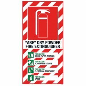 ABE/Powder Blazon sign 210 x 410mm PVC
