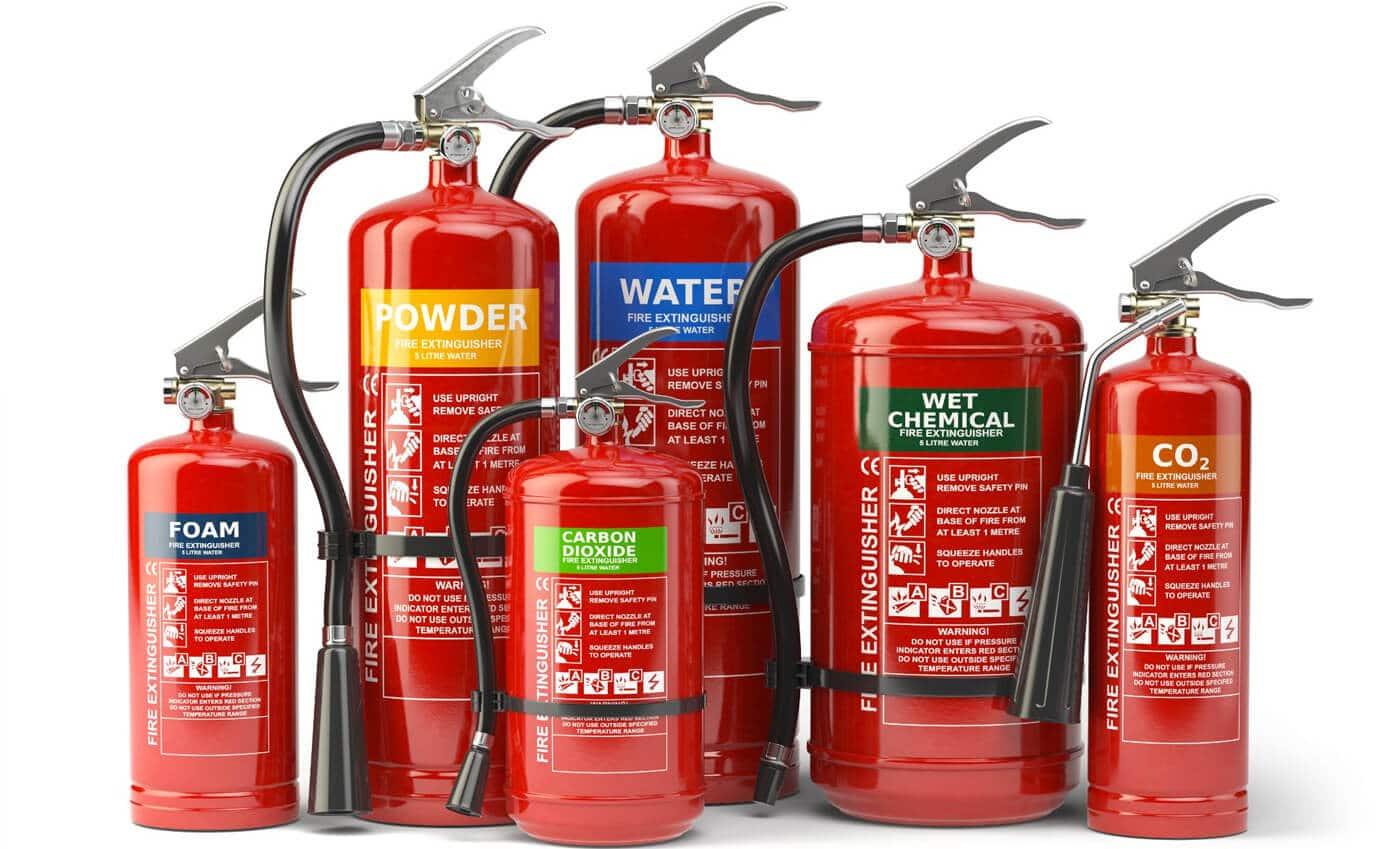 Range of Fire Extinguishers